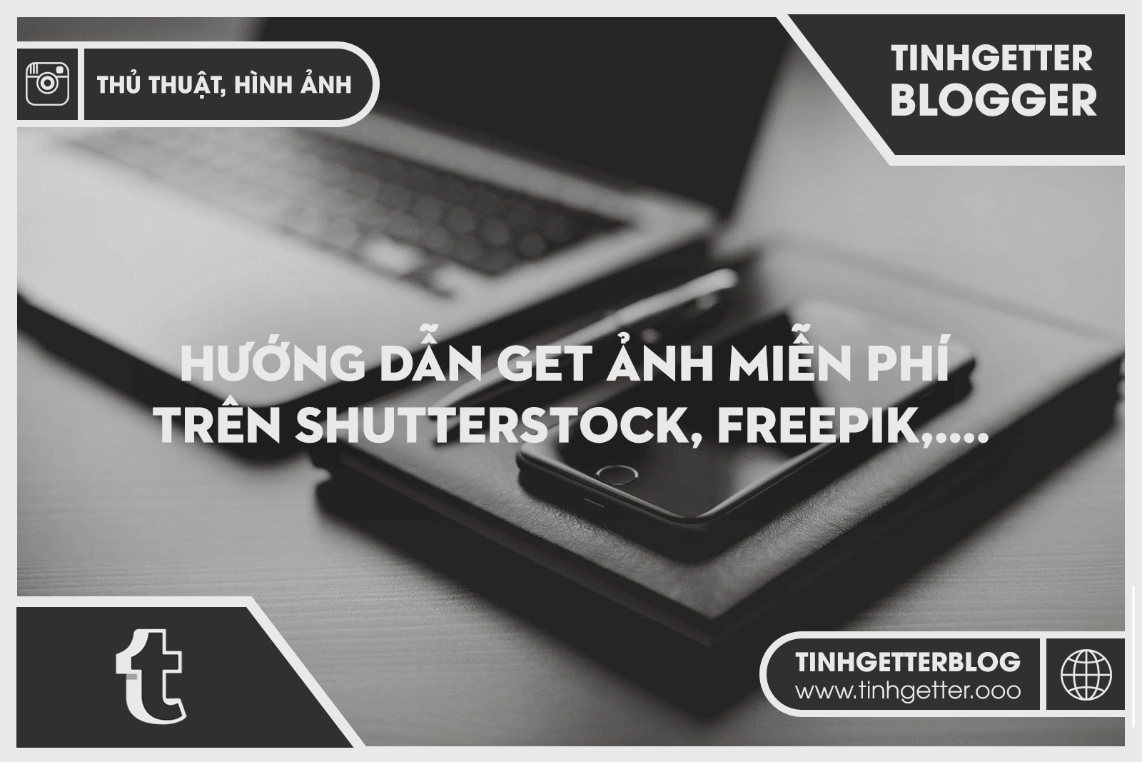 Hướng dẫn get ảnh miễn phí trên Shutterstock, Freepik