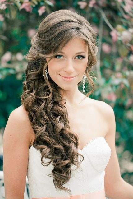Brautfrisuren Halboffen Seitlich | Frisuren Trend 42