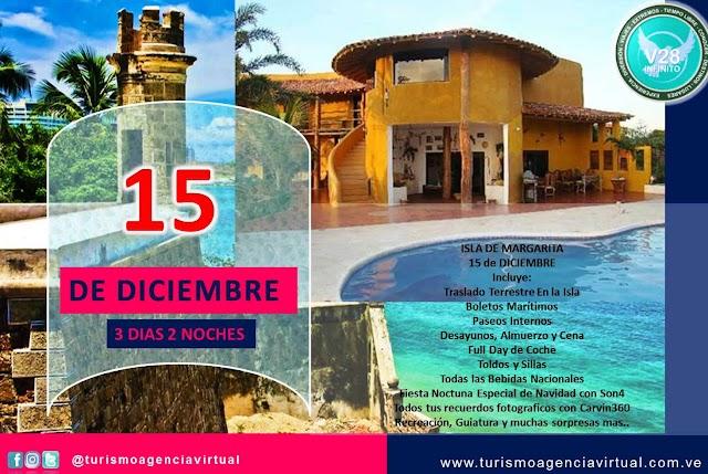 15 de DICIEMBRE  ISLA DE MARGARITA - Turismo en Venezuela