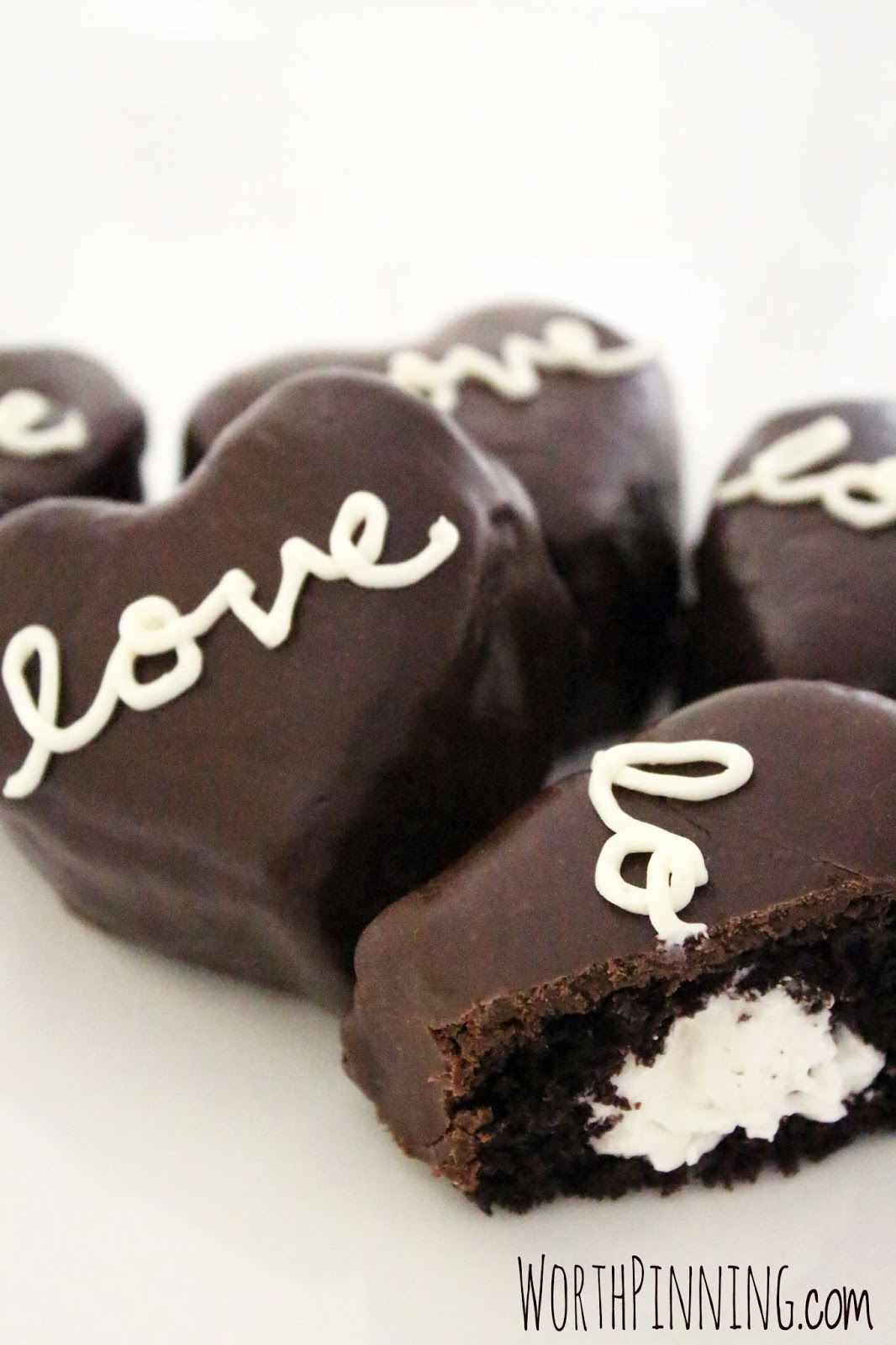 Cream Filled Chocolate Hearts #valentinesday