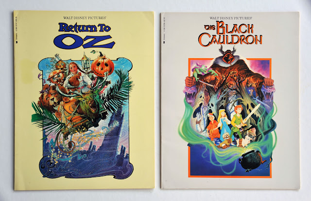 Return to OZ and The Black Cauldron published by Scolatic Inc.