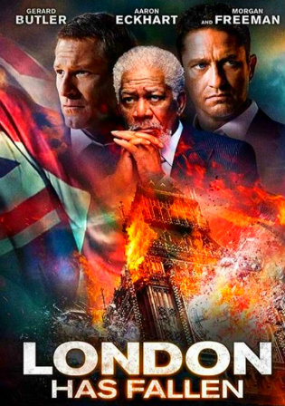 Poster of London Has Fallen (2016) HDRip Dual Audio 480p 300Mb