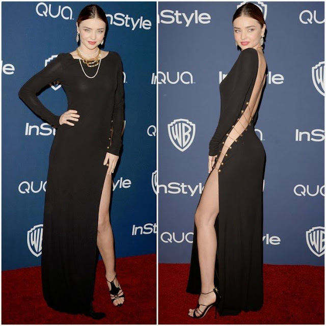 Miranda Kerr in Emilio Pucci – InStyle and Warner Brothers Golden Globes Awards Party