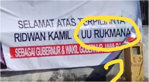 Nama Uu Ruzhanul Ulum Salah Tulis di Baliho, Ridwan Kamil: Akibat Desain Sambil Main Tik Tok