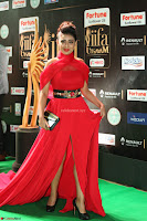Apoorva in a Stunning Tight Leg Split Sleeveless Red Gown at IIFA Utsavam Awards 80.JPG
