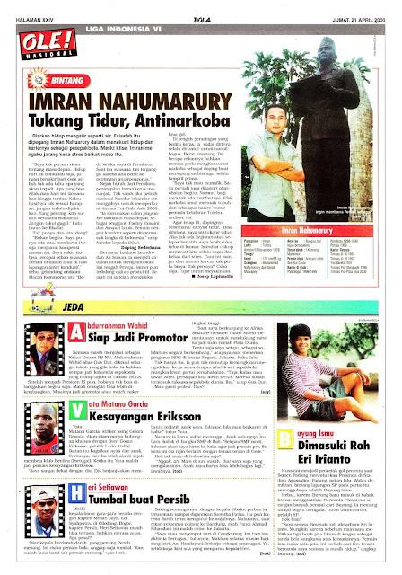LIGA INDONESIA PROFIL BINTANG IMRAN NAHUMARURY
