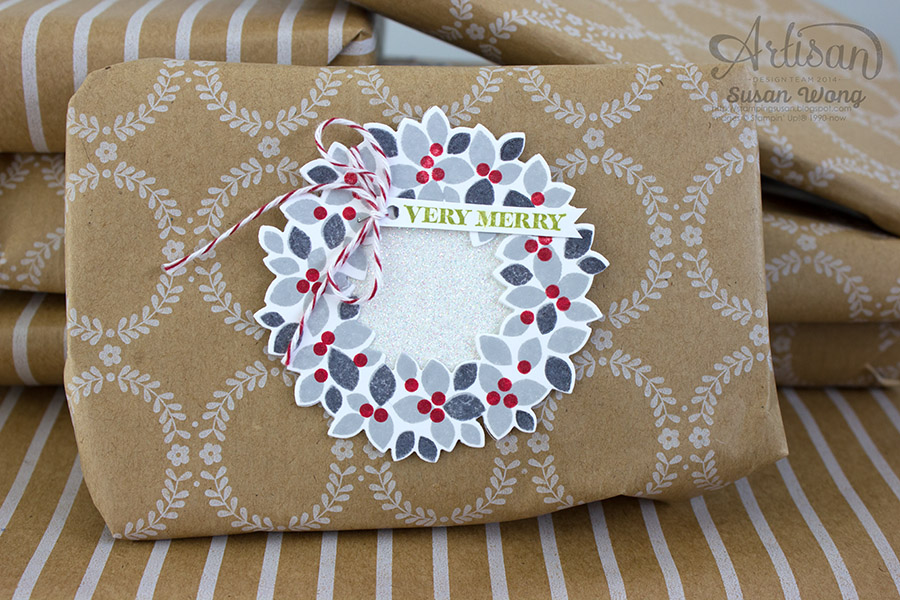 Wondrous Wreath Gift Tag ~ Susan Wong