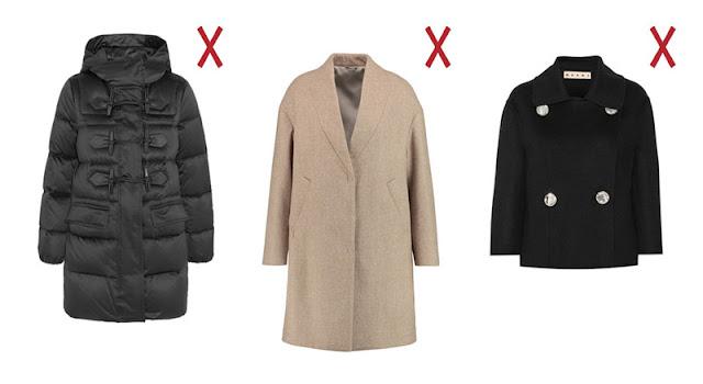 Пуховик, пальто-кокон и короткое пальто