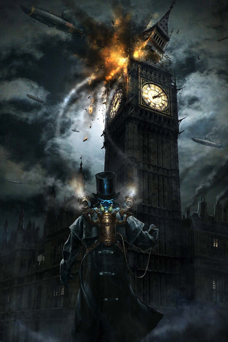 02-Guy-Fawkes-Didier-Graffet-Visions-of-the-future-in-Steampunk-Digital-and-Traditional-Art-www-designstack-co
