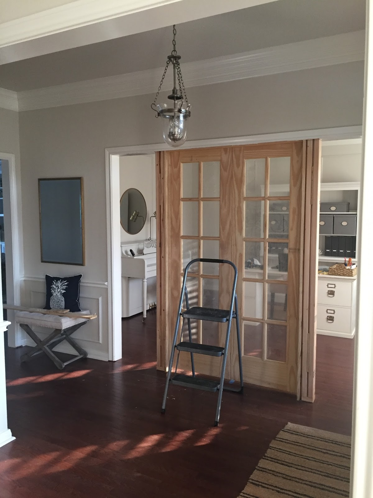 This is happiness orc guest week 2 home office french doors he special ordered them with the matching side panels to fill the additional space we looked into other types of doors barn doors etc rubansaba