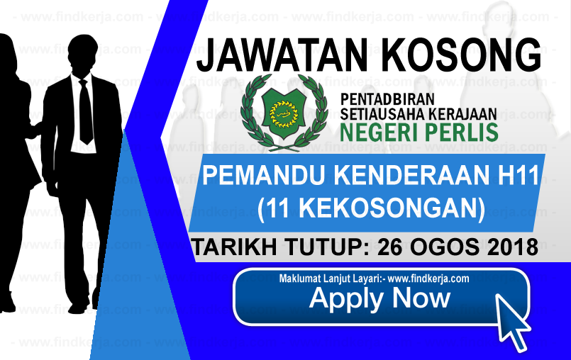 Jawatan Kerja Kosong Kerajaan Negeri Perlis logo www.ohjob.info www.findkerja.com ogos 2018