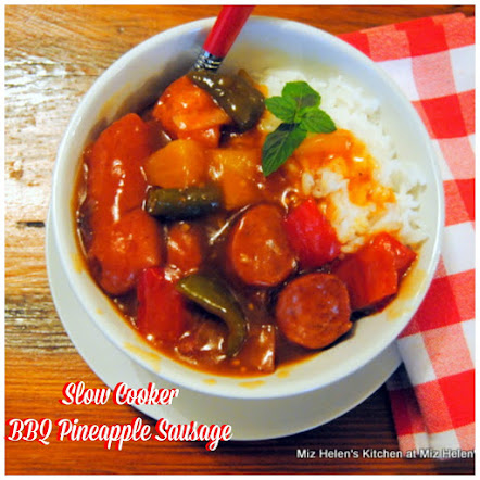 Slow Cooker BBQ Pineapple Sausage