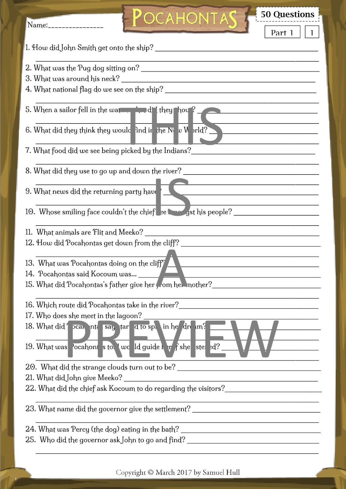 Pocohauntus Worksheet For First Grade Pocohauntus Best