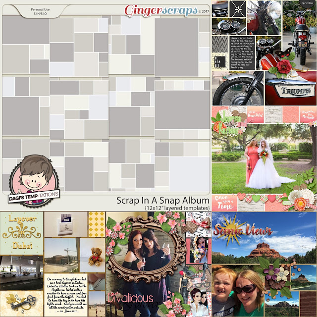 Dagi's Temp-tations Scrap in a Snap Album