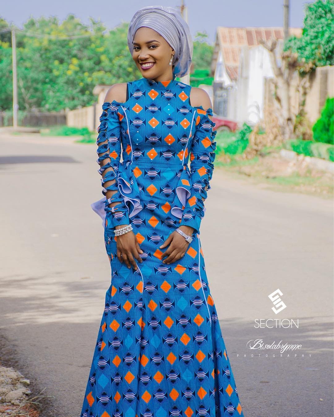 Lovely fitted long gown ankara styles | Download latest ankara ...