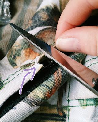 DIY bag scissors