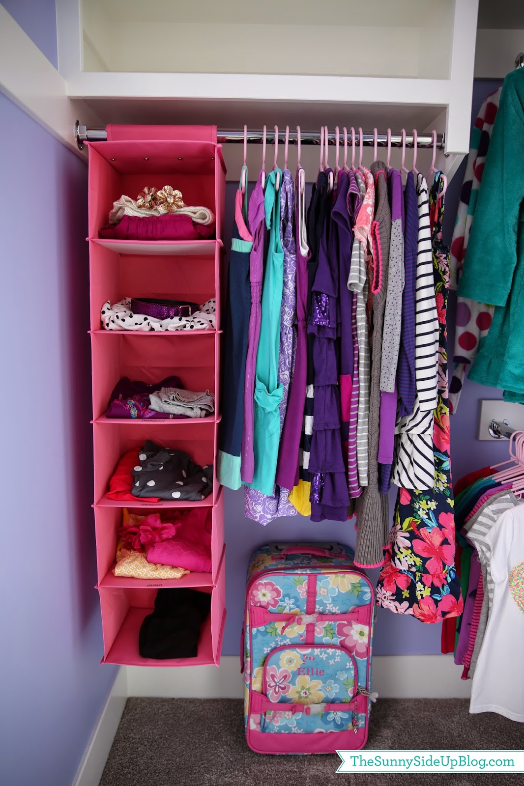 0df44cdbf15 Here is the same set up in El s closet. Can you tell this child of mine  loves purple  I had to really force her to look for clothes that weren t  purple this ...