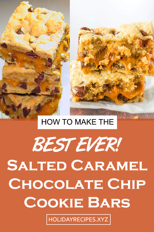 Salted Caramel Chocolate Chip Cookie Bars Recipe | Dessert Recipes Easy, Dessert Recipes Simple, Dessert Recipes Best, Dessert Recipes Cookies, Dessert Recipes Gluten Free, Dessert Recipes Chocolate, Dessert Recipes For A Crowd #salted #caramel #chocolate #chocolatechip #cookies #cookiebars #bars #dessert #saltedcaramel #delicious