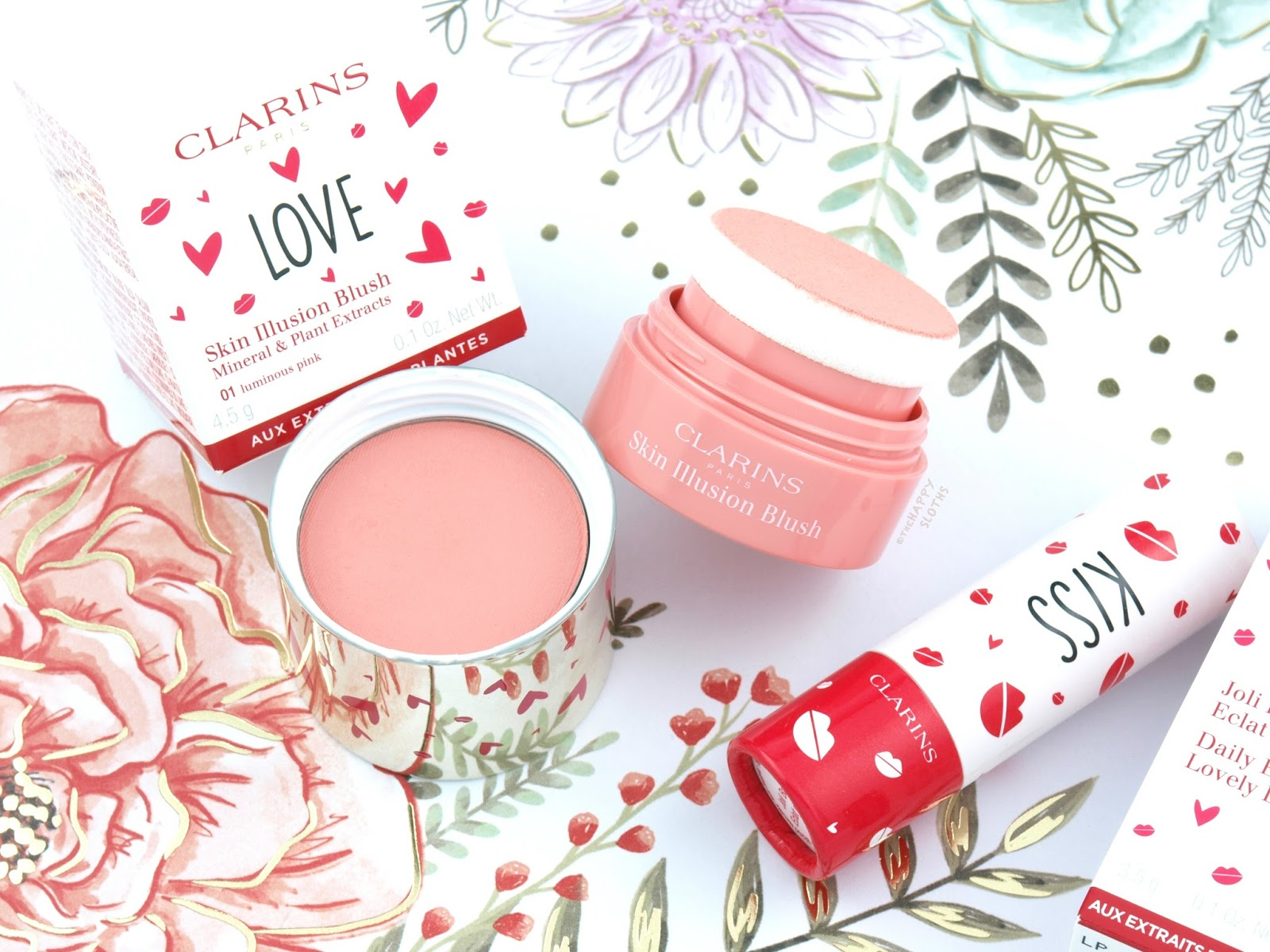 Clarins Daily Energizer Lovely Lip Balm & Skin Illusion Blush: Review and Swatches