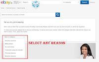 delete ebay account on app