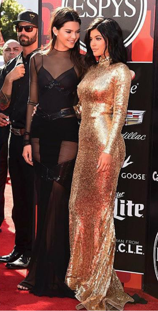 b1a3ef49413 Kendall and Kylie Jenner stun at the ESPYS in support of their Dad ...