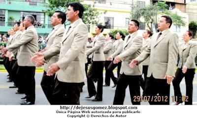 INPE en el Desfile y Parada Militar del Peru. Foto tomada por Jesus Gómez
