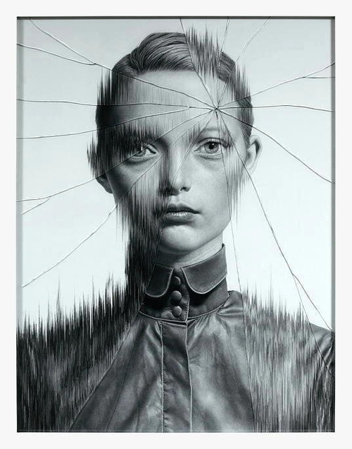 03-The-Cracked-Portrait-Pencil-Drawing-and-Glass-www-designstack-co
