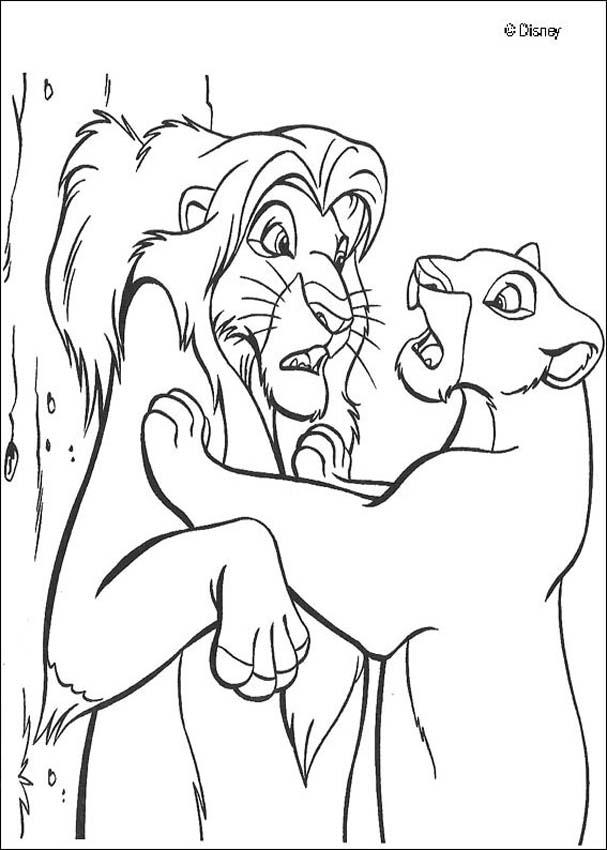 Kids Page: - The Lion King - Running Hyenas Coloring Pages
