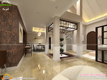 Interior Home Designs with Courtyard