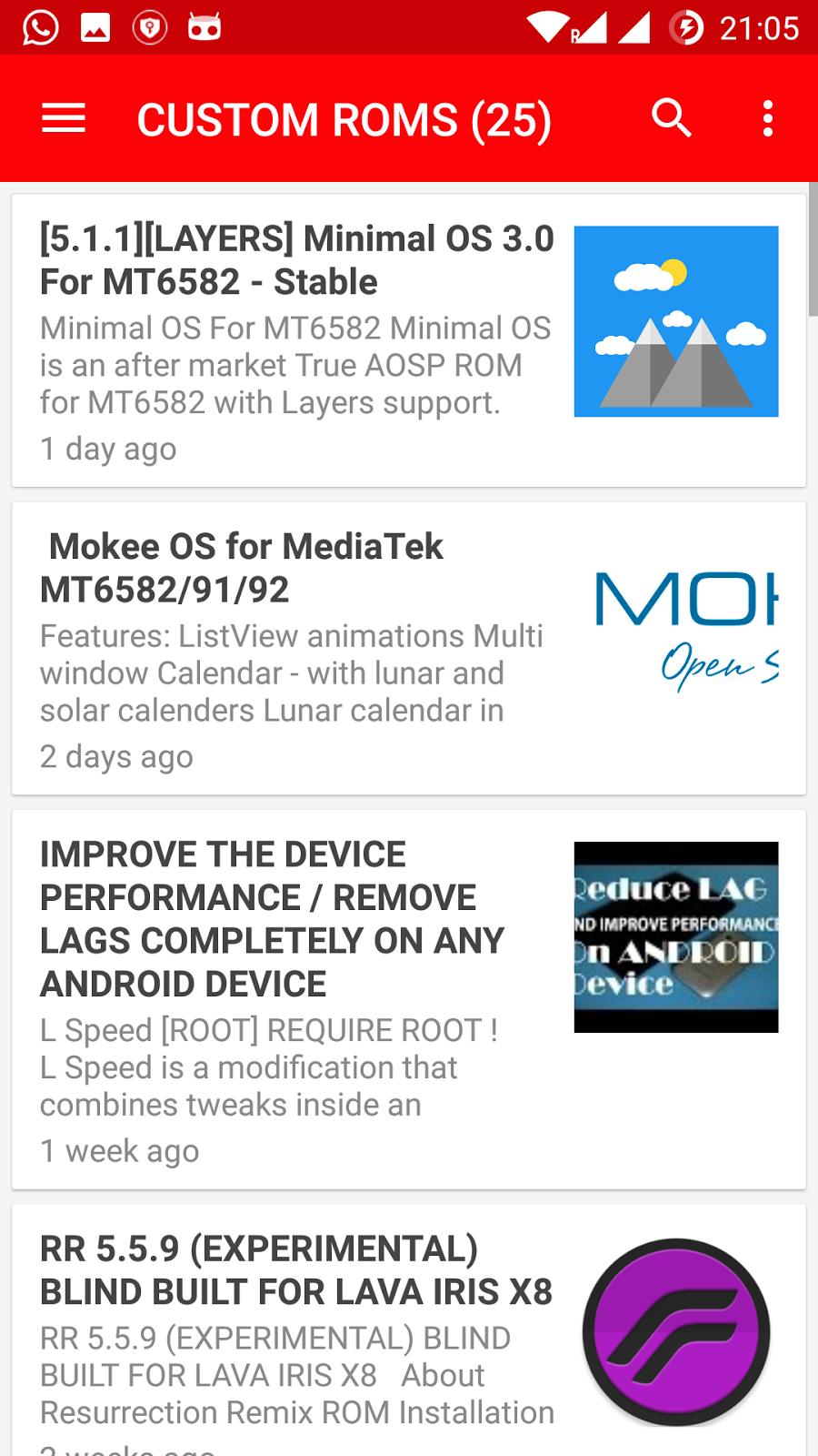 Custom ROMs for mtk devices