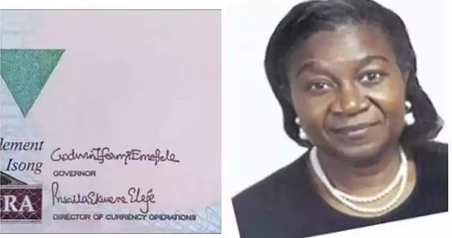Female Signature Goes On the Naira For The First Time Ever
