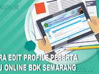 Cara Edit Profile dan Foto Peserta Diklat Jarah Jauh (DJJ) BDK Semarang