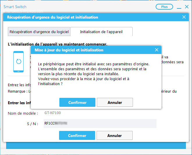 Initialiser SAMSUNG Firmware - Smart Switch