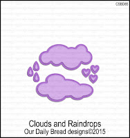 ODBD Custom Clouds and Raindrops Dies