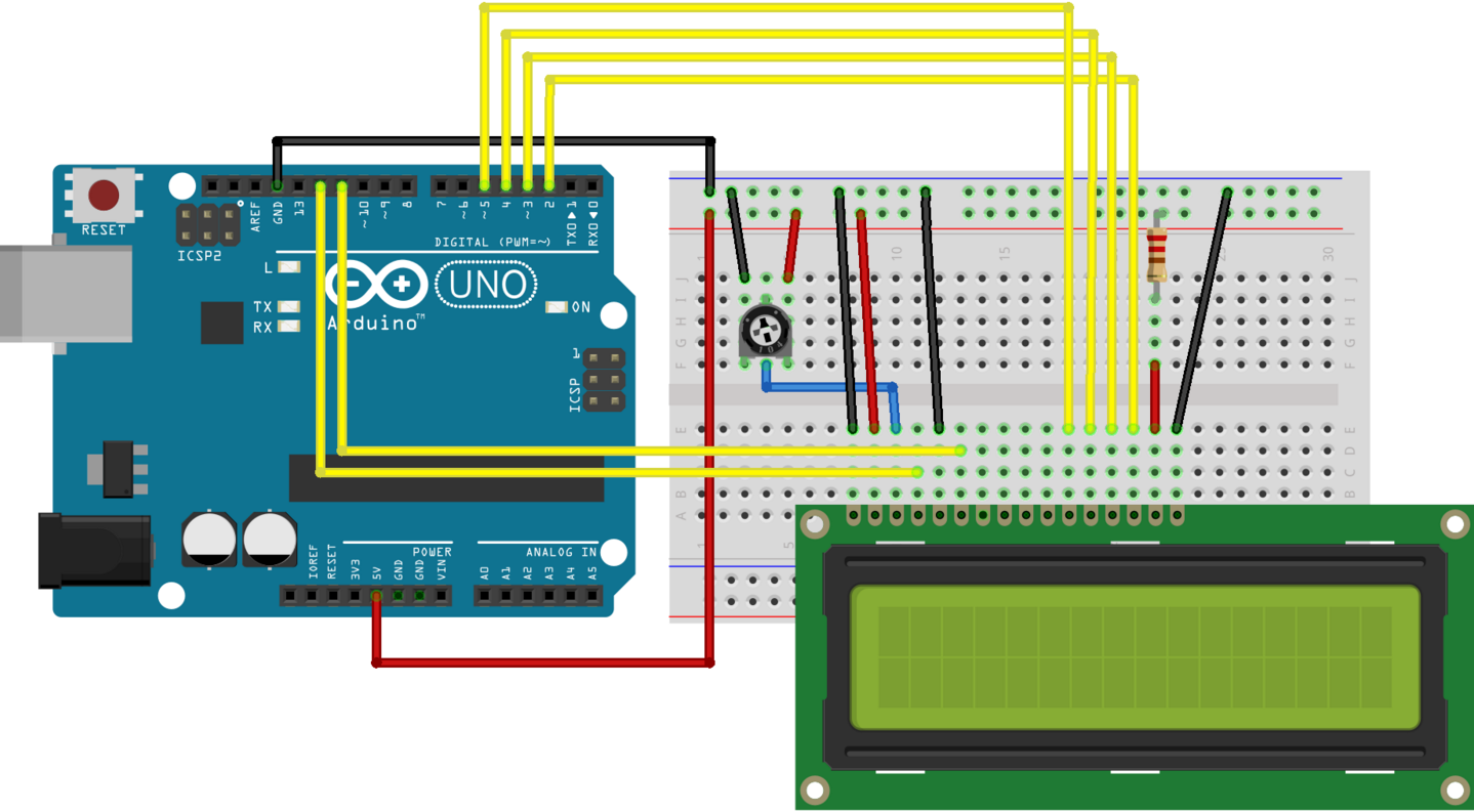16x2 Lcd 1602a  Interfacing With Arduino Uno