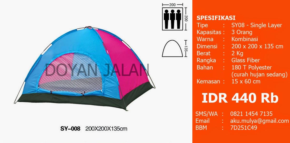 Harga Tenda Dome Kapasitas 3 Orang Murah