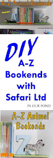 A to Z Bookends from In Our Pond   #howisafari