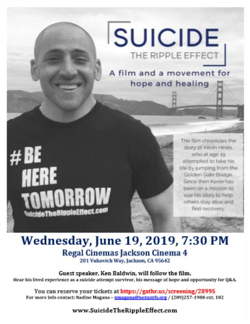 Special Screening: Suicide: The Ripple Effect - Wed June 19