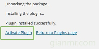 active plugin wordpress