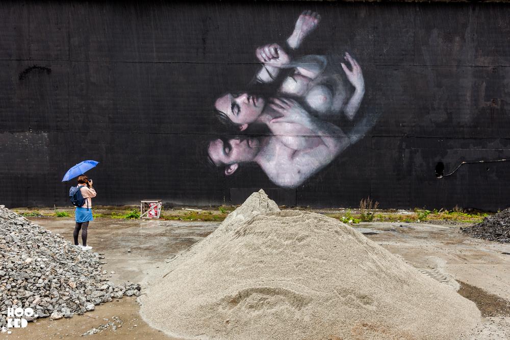 Mural work by artist Henrik Uldalen in Stavanger, Norway