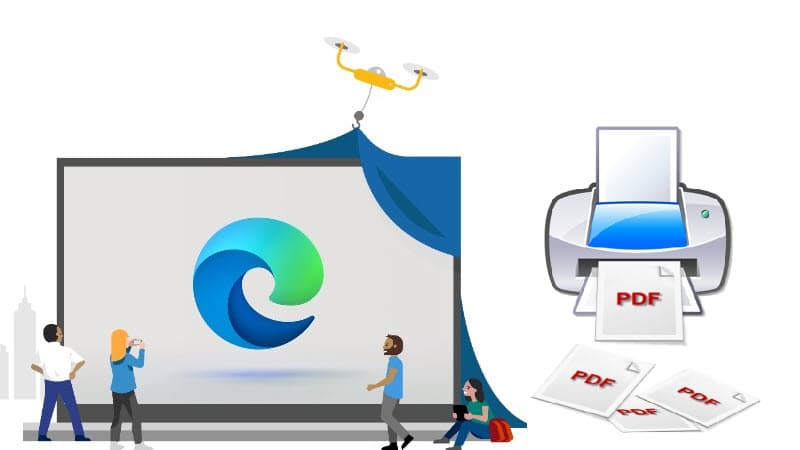 How to save a web page as PDF from Microsoft Edge browser?