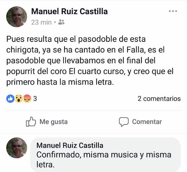 """Ridiculo de la Chirigota """"En la ciudad de Cádiz siendo las…"""""""