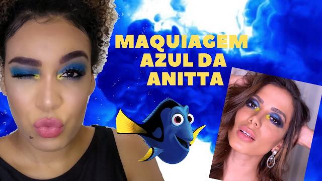 Maquiagem azul da Anitta