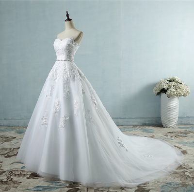 ZJ9032 2017 lace flower Sweetheart White Ivory Fashion Sexy Wedding Dresses  for brides plus size maxi size 2-26W 295b77db0512