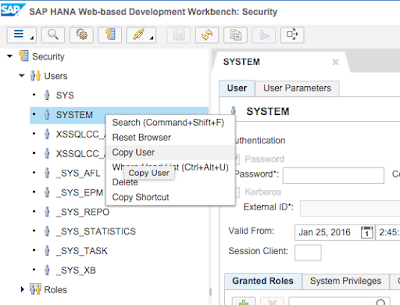 SAP HANA XS Classic, Develop your first SAP HANA XSC Application