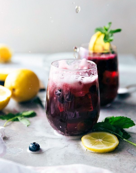 SPARKLING BLUEBERRY LEMONADE #drink #lemonade