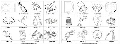 Aprendiendo palabras 29 fichas para colorear