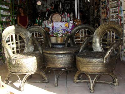 muebeles reciclados de neumático