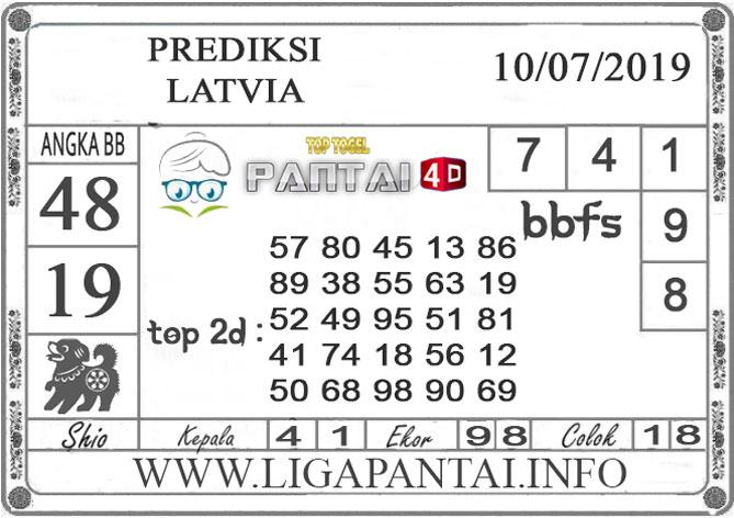 """PREDIKSI TOGEL """"LATVIA"""" PANTAI4D 10 JULI 2019"""