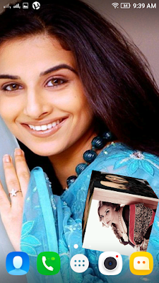 Vidya Balan 3D live Wallpaper For Android Mobile Phone